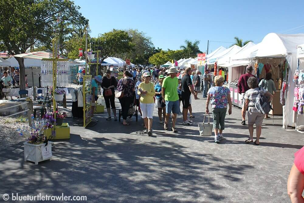 Arts and Crafts booths at Shrimp Fest