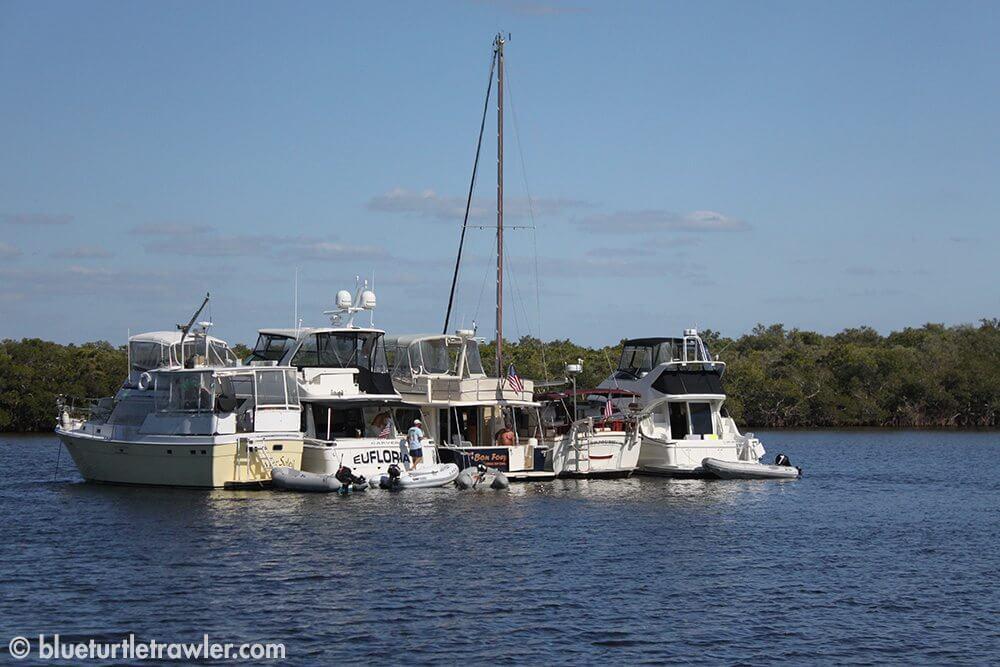 The large flotilla
