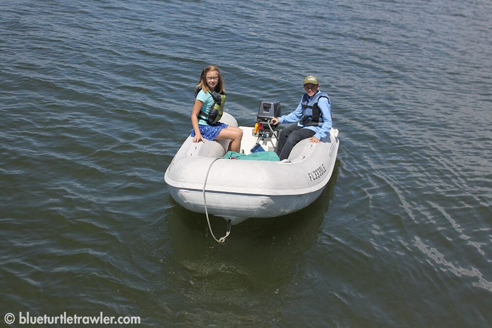 Corey takes Maddie over to her boat