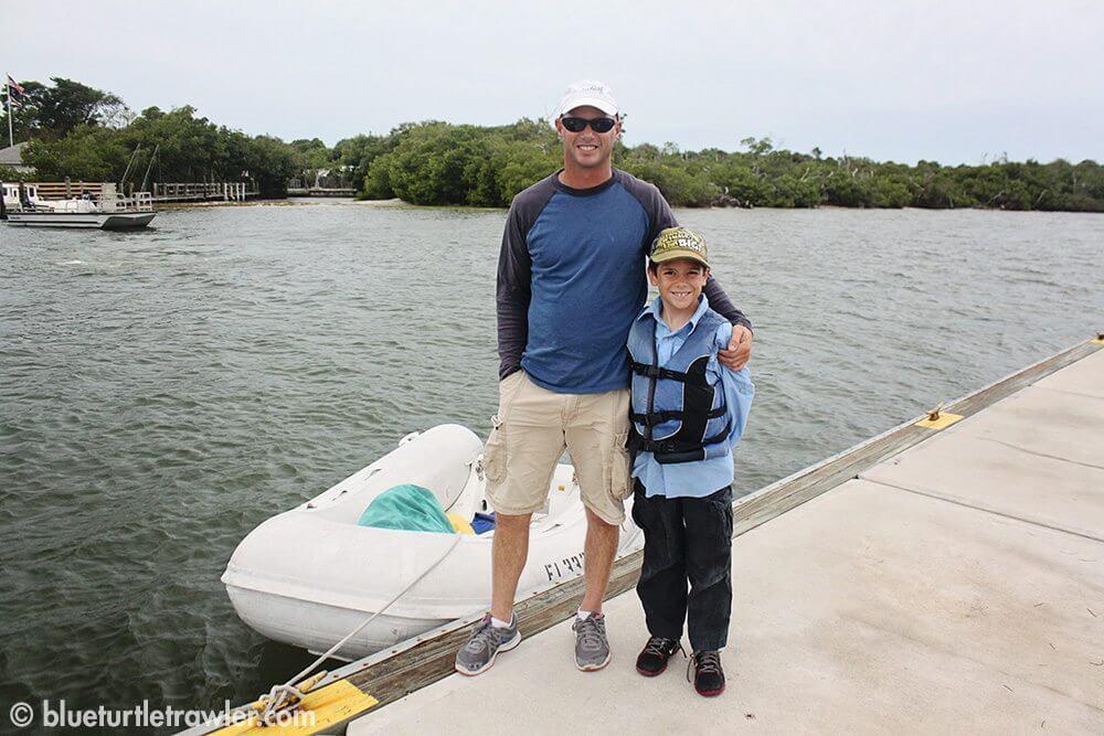 Randy and Corey at the Cayo Costa docks