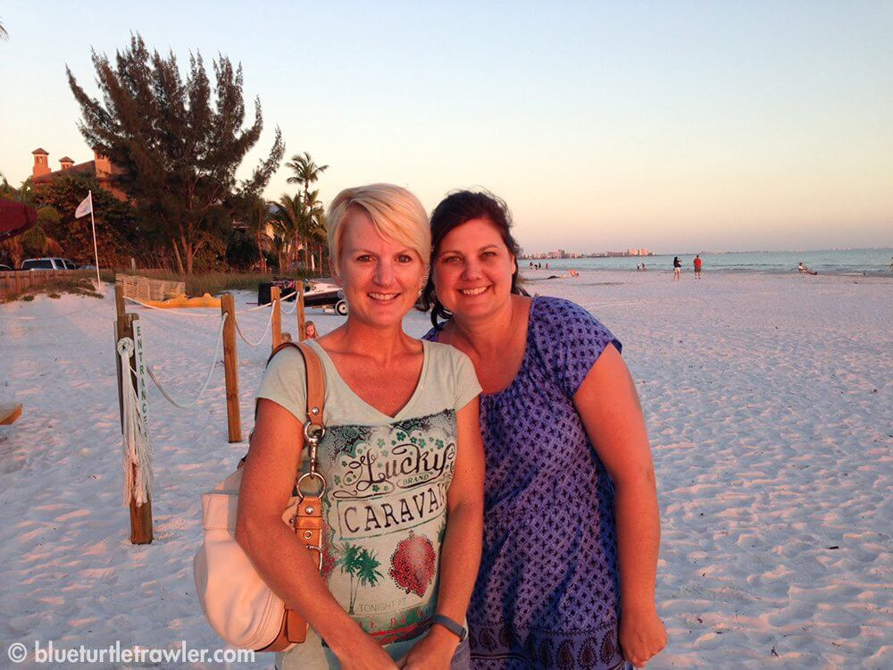 Teri, a childhood friend from Louisville, and I at Fort Myers Beach