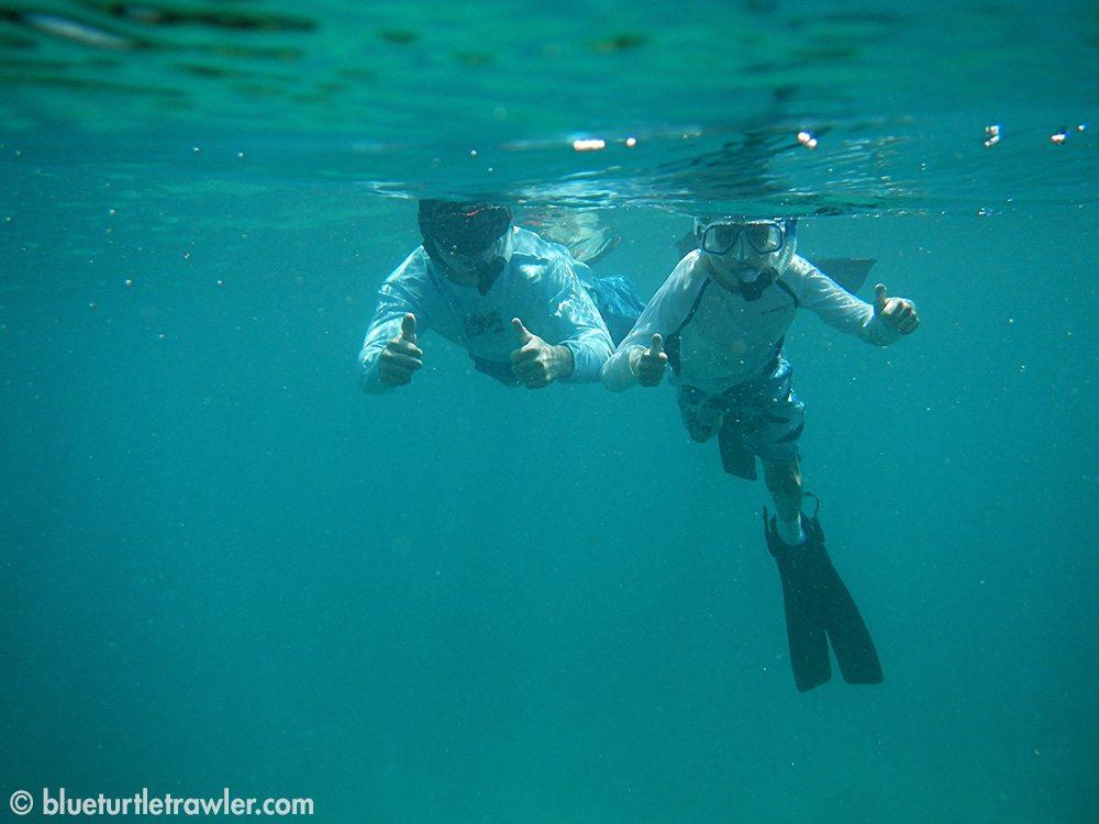 Corey and Randy enjoying their snorkel