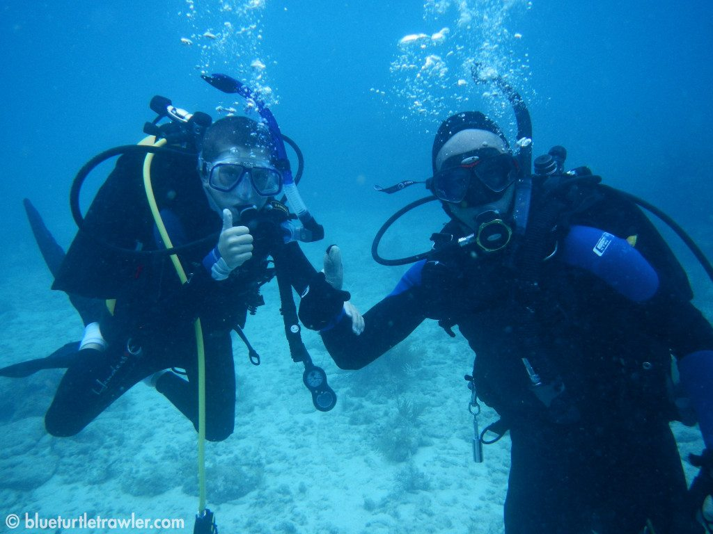 Corey and Randy ready to dive!