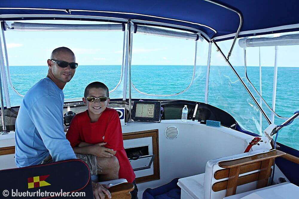 Randy and Corey at the helm