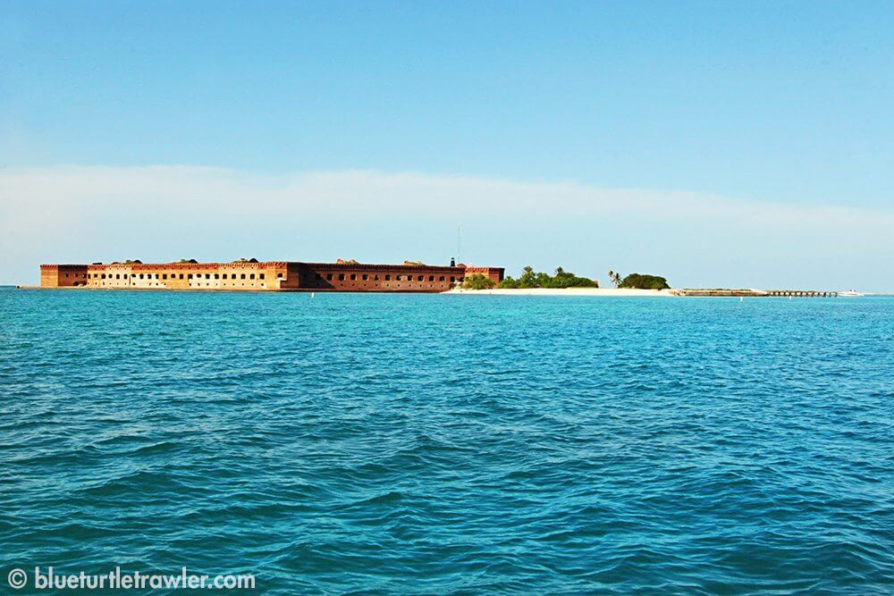 Our view Fort Jefferson on Garden Key