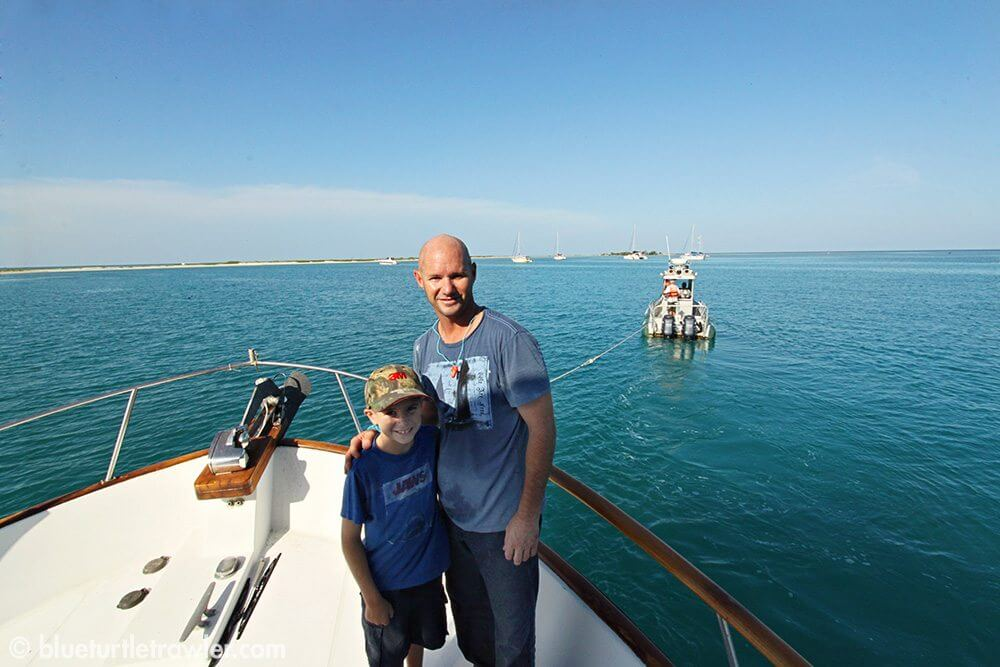 Frustrated with the engine issue, but so happy to be in the Dry Tortugas
