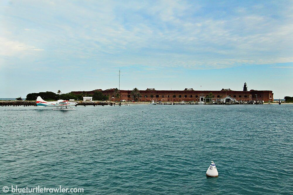 Our view of Fort Jefferson from Blue Turtle