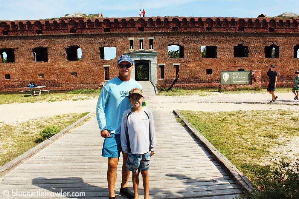 Randy and Corey in front of the entrace to Fort Jefferson