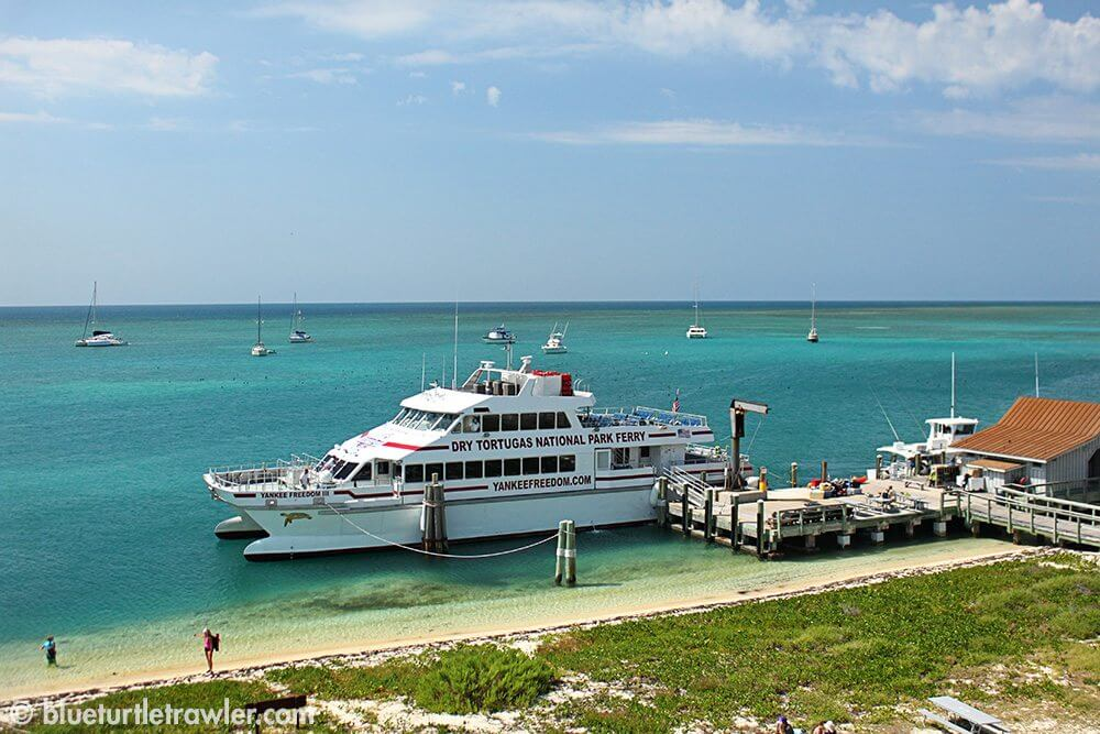 The Dry Tortugas ferry and docks
