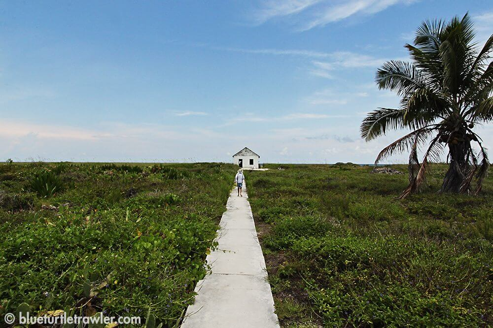 Walking to the other side of the island