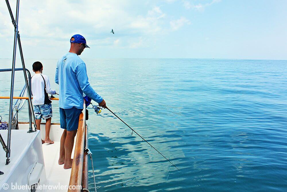 Fishing for yellow tail snapper