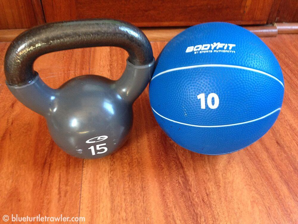 The equipment I used for this workout