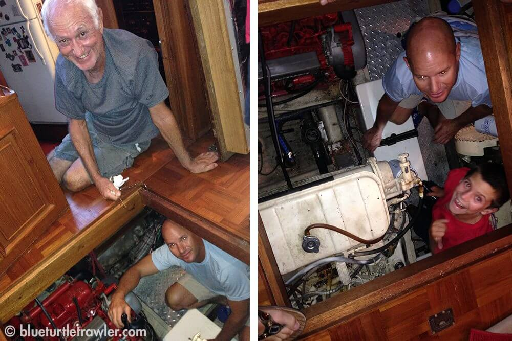 Of course, no visit on another's boat goes without getting into the engine room