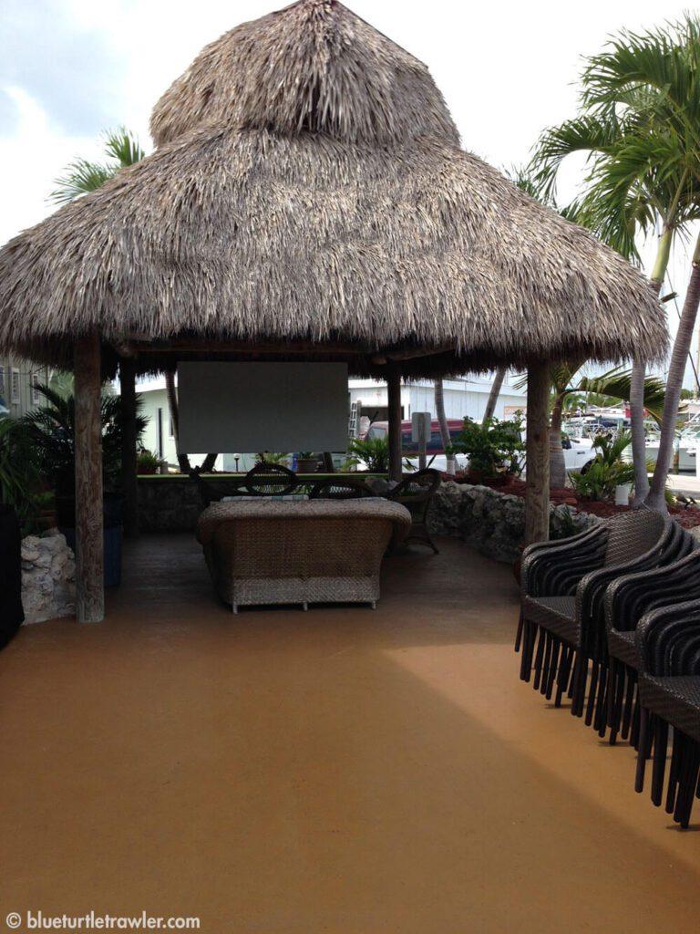 Tiki area outside the Captain's Lounge