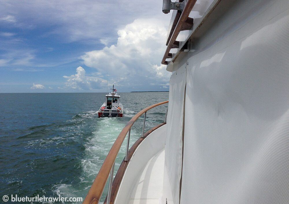 Getting towed into Naples