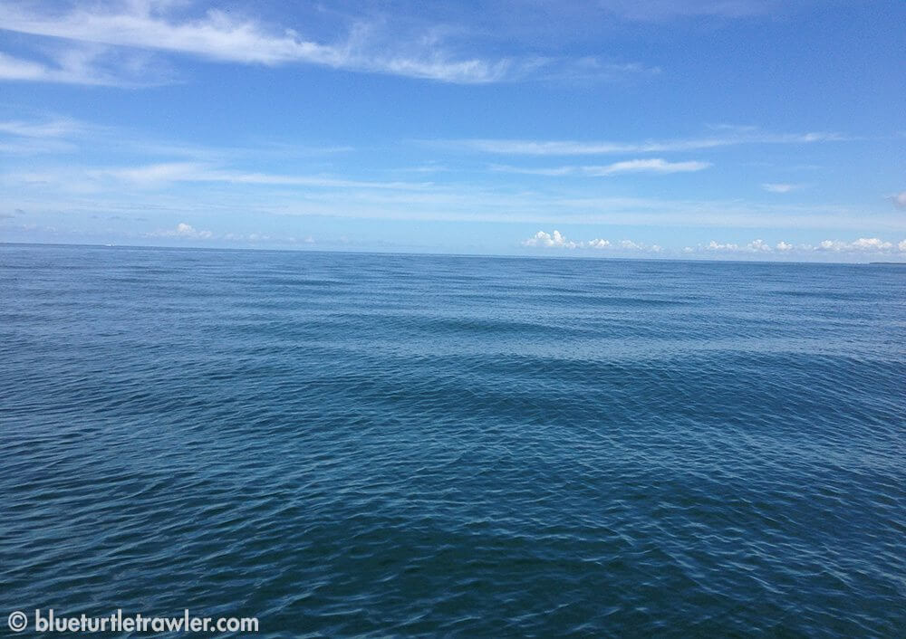 Luckily, it was a calm day on the Gulf of Mexico