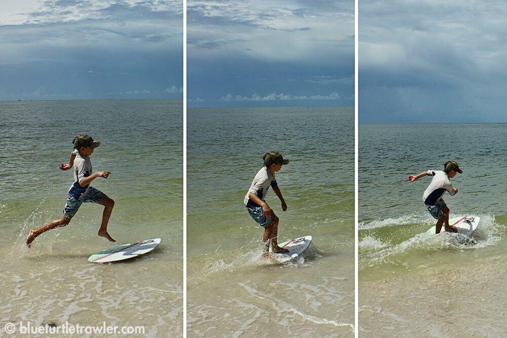 Corey shows us his mad skim boarding skills