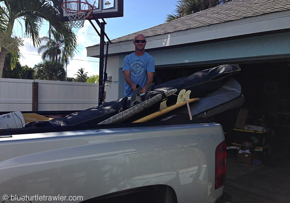 Ready to head out of town with the surf boards loaded