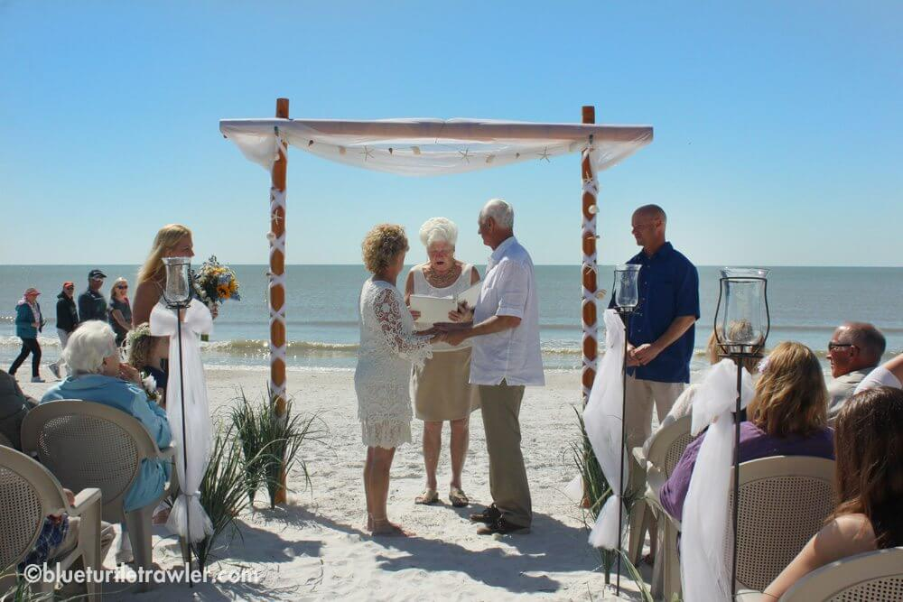 Family wedding on Fort Myers Beach