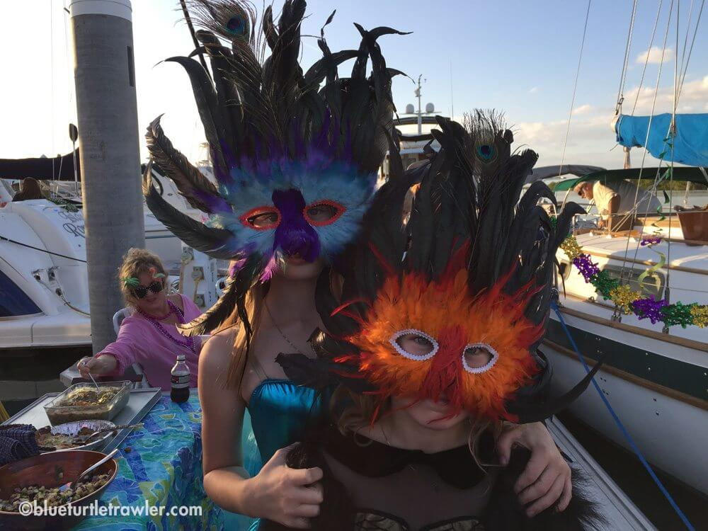 Belated Mardi Gras dock party