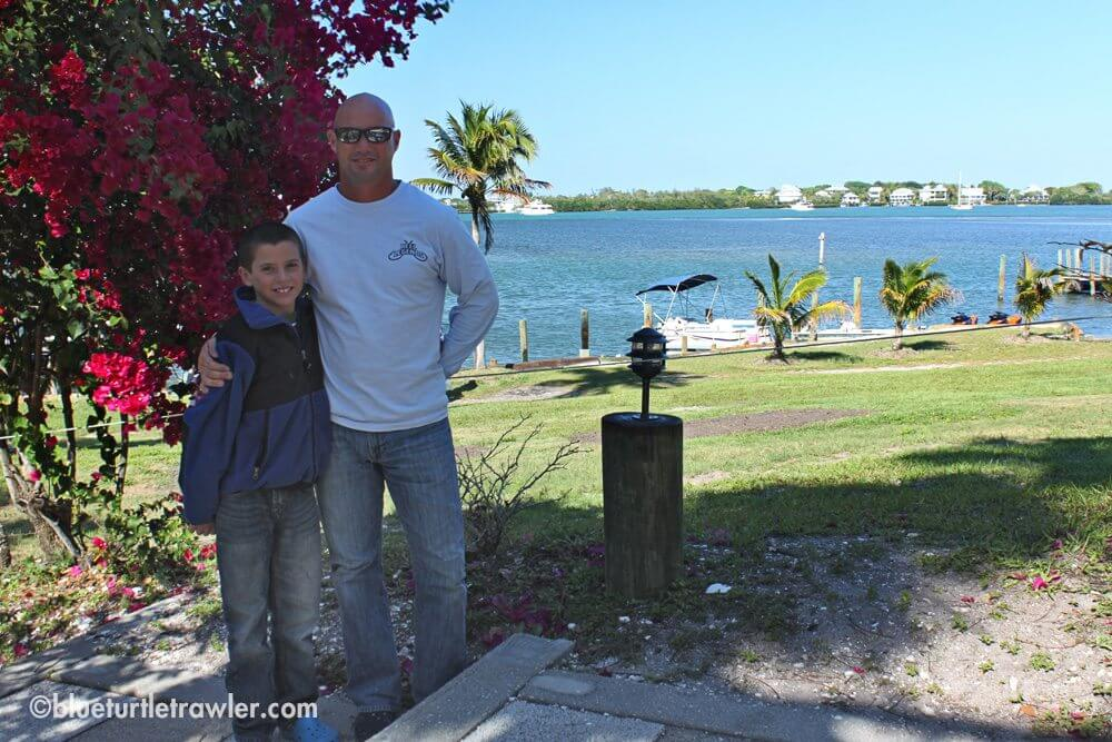 The boys at Cabbage Key
