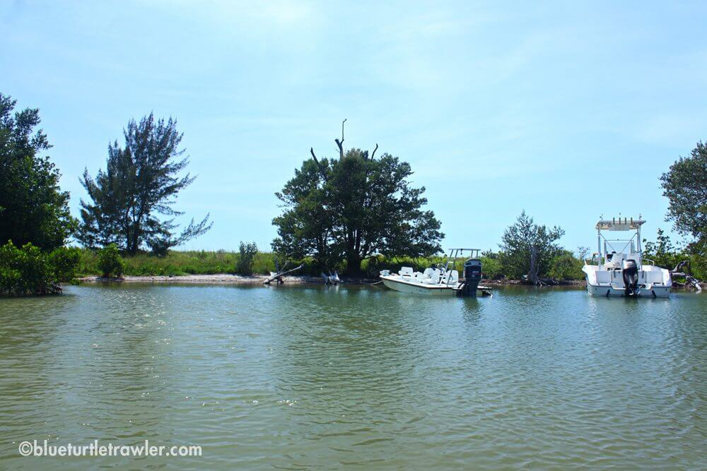 The North Captiva anchorage area—on the other side was paradise beach