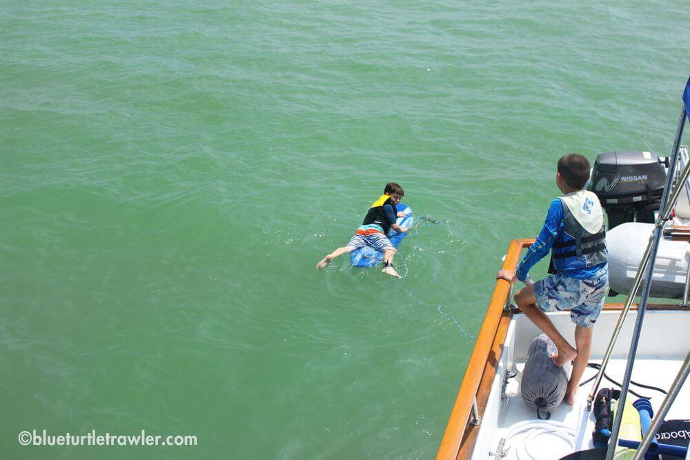 Sam's turn to trawler surf