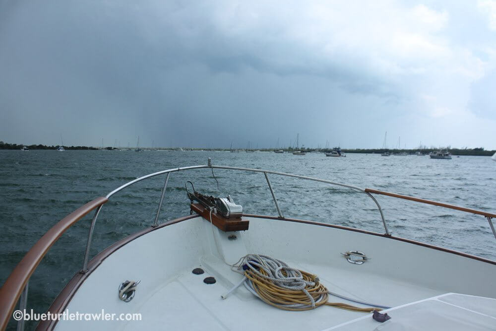 The first storm approaching
