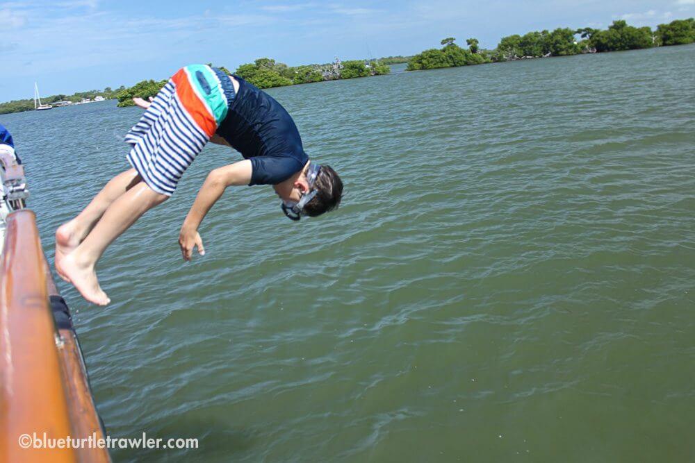 Sam flips off Blue Turtle