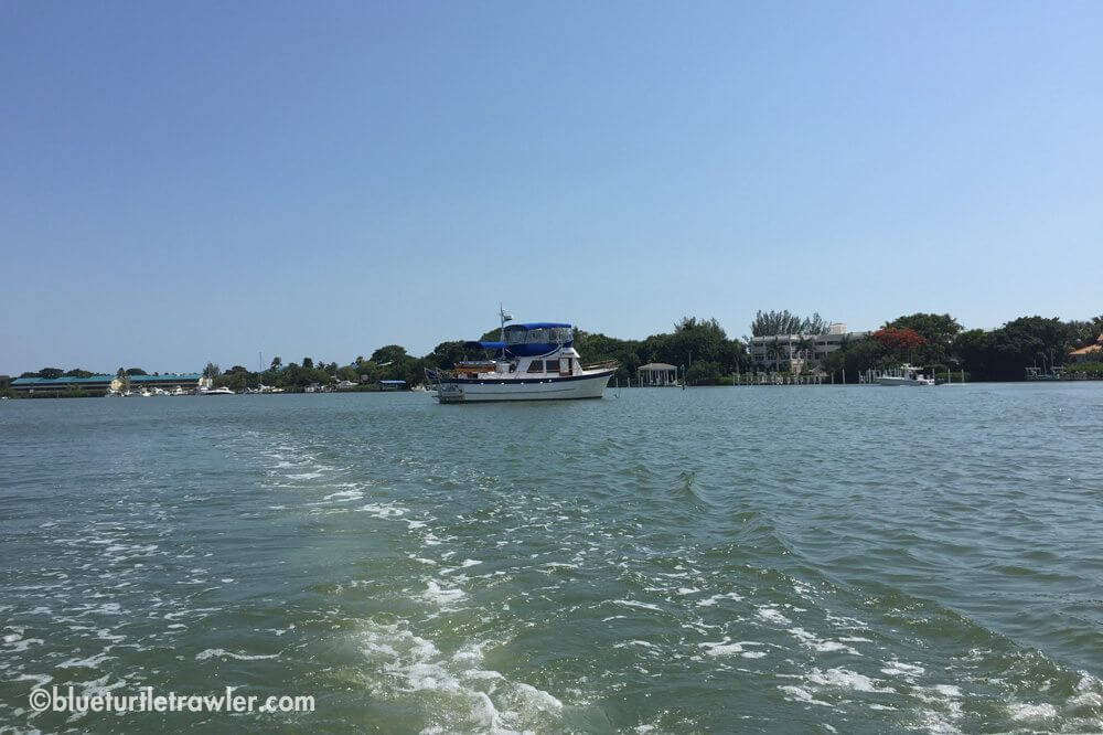 Blue Turtle in her anchorage near Captiva