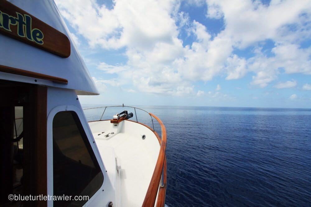 Blue Turtle navigates the calm waters of the Gulf of Mexico