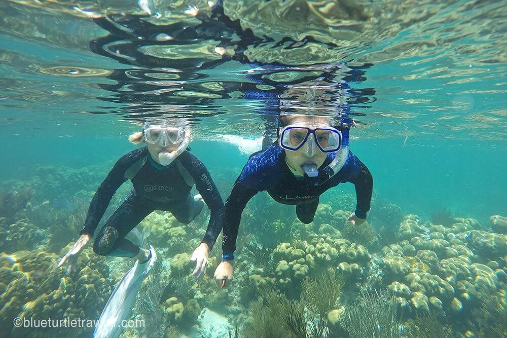 Corey and I snorkeling Little Africa
