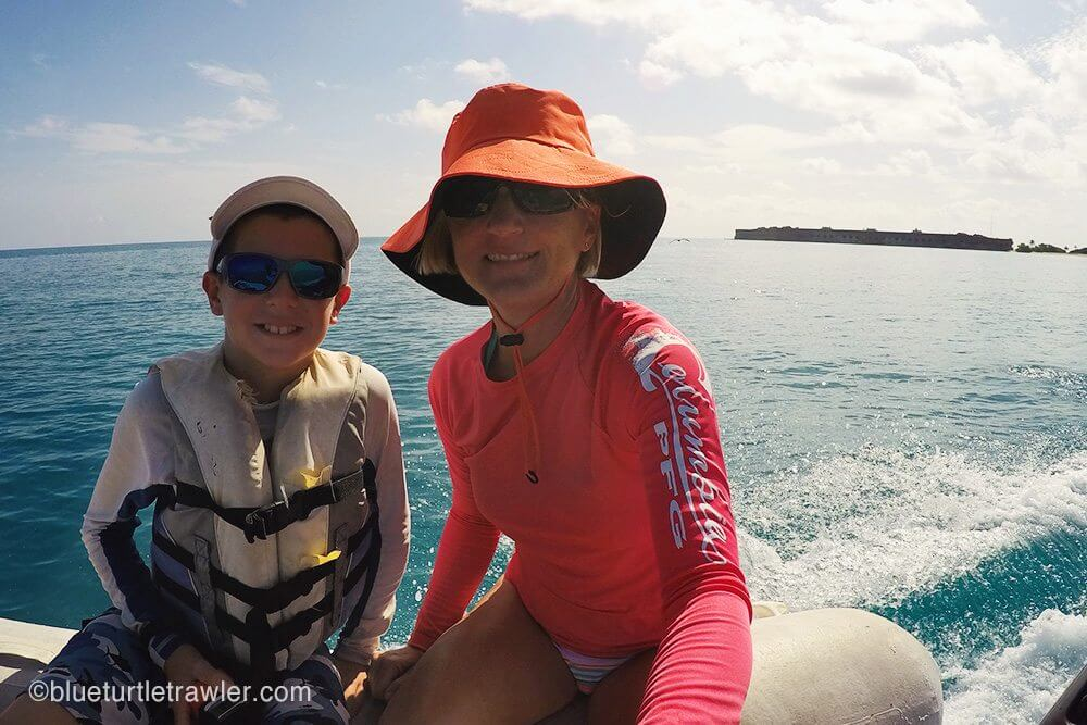 Corey and I on our way to snorkel the Windjammer, after diving it the previous day