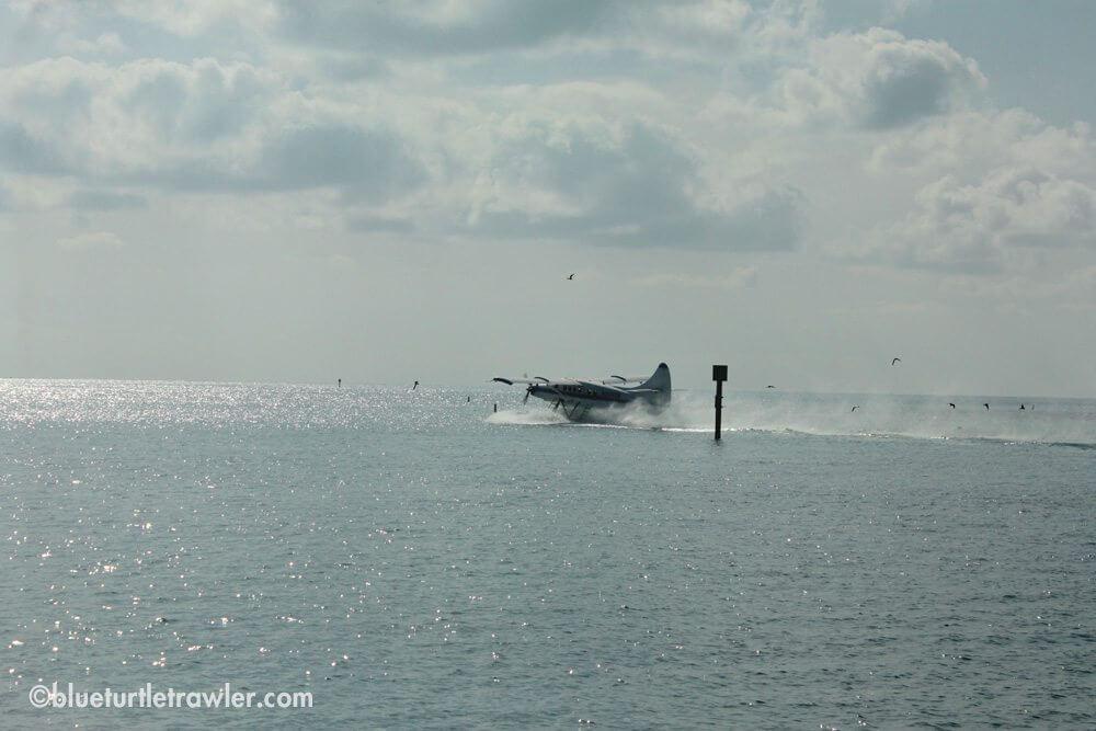 Sea plane getting ready to take off