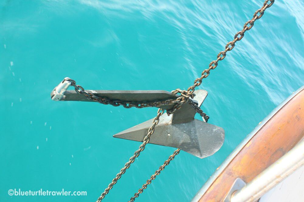 Our anchor tangled in the chain