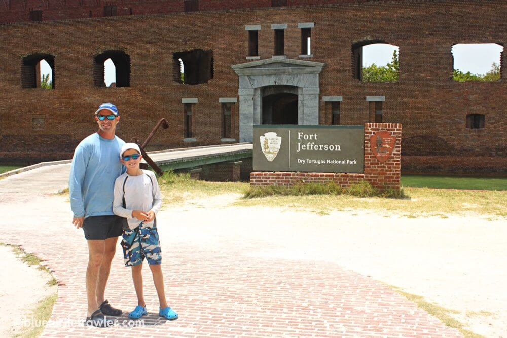 The boys at the entrance of Fort Jefferson