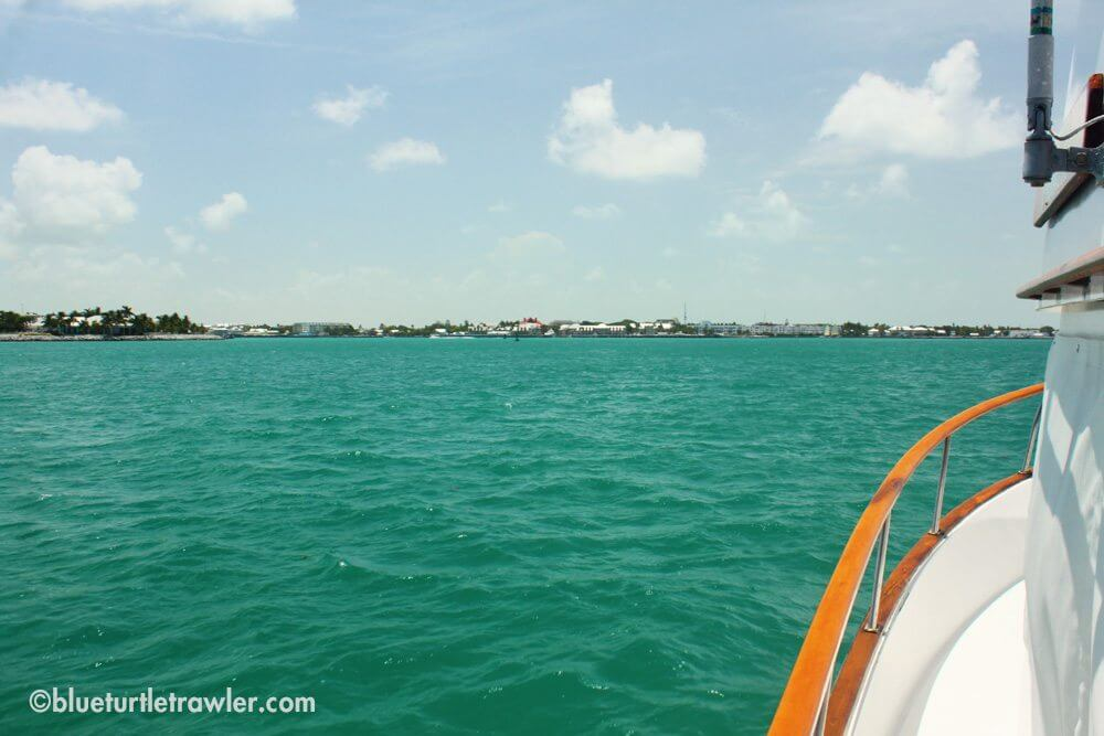 Arriving at Key West with one salty boat