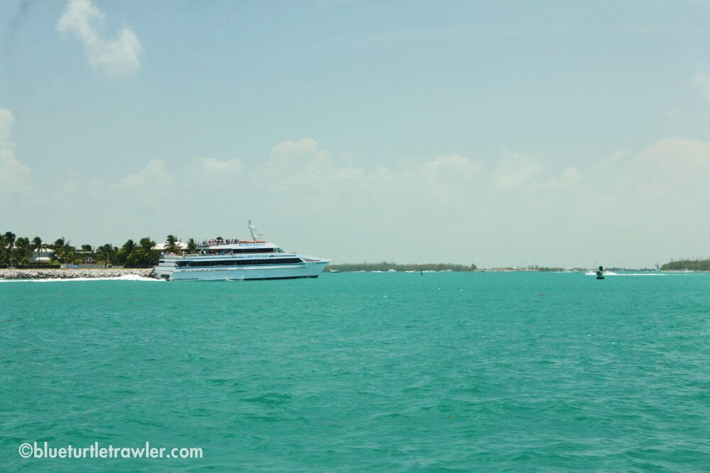 The Key West Express (from Fort Myers) arrives at Key West