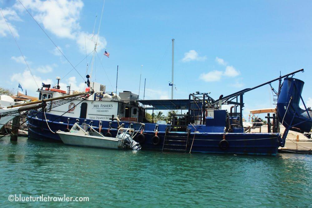 The Mel Fisher boat in town for Mel Fisher Day in Key West