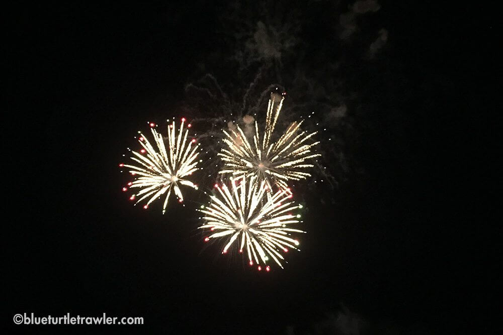 We watched fireworks for 4th of July in Key West