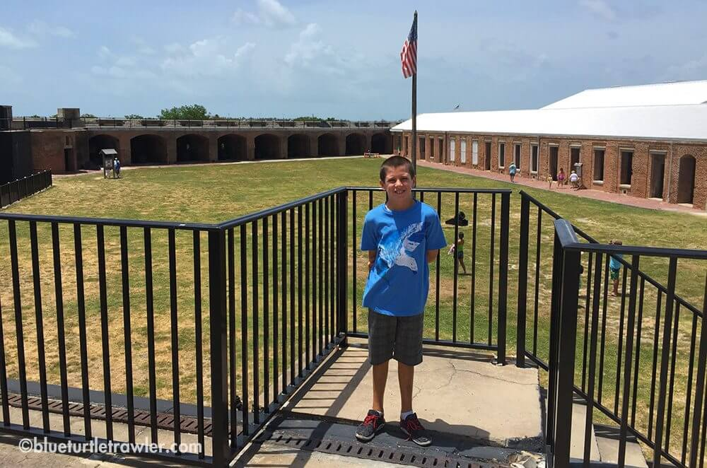 Corey in front of Fort Zachary Taylor