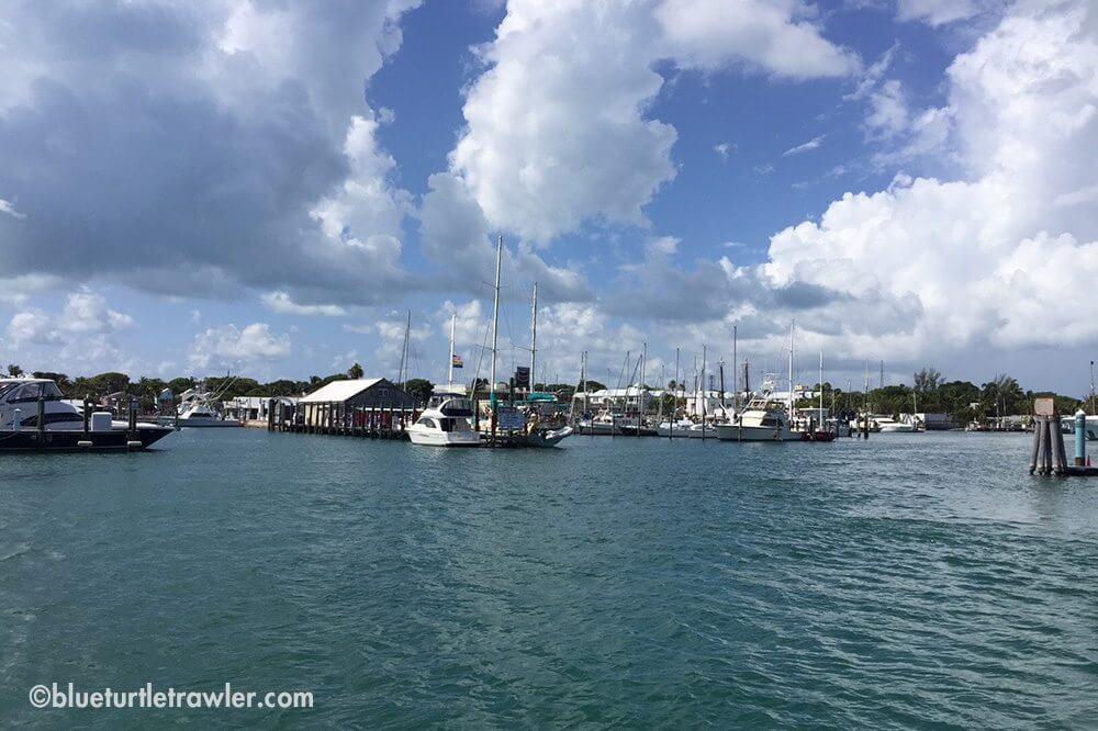 Leaving Key West Bight Marina