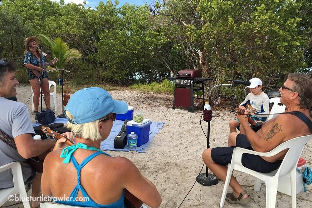Uke playing, island-style