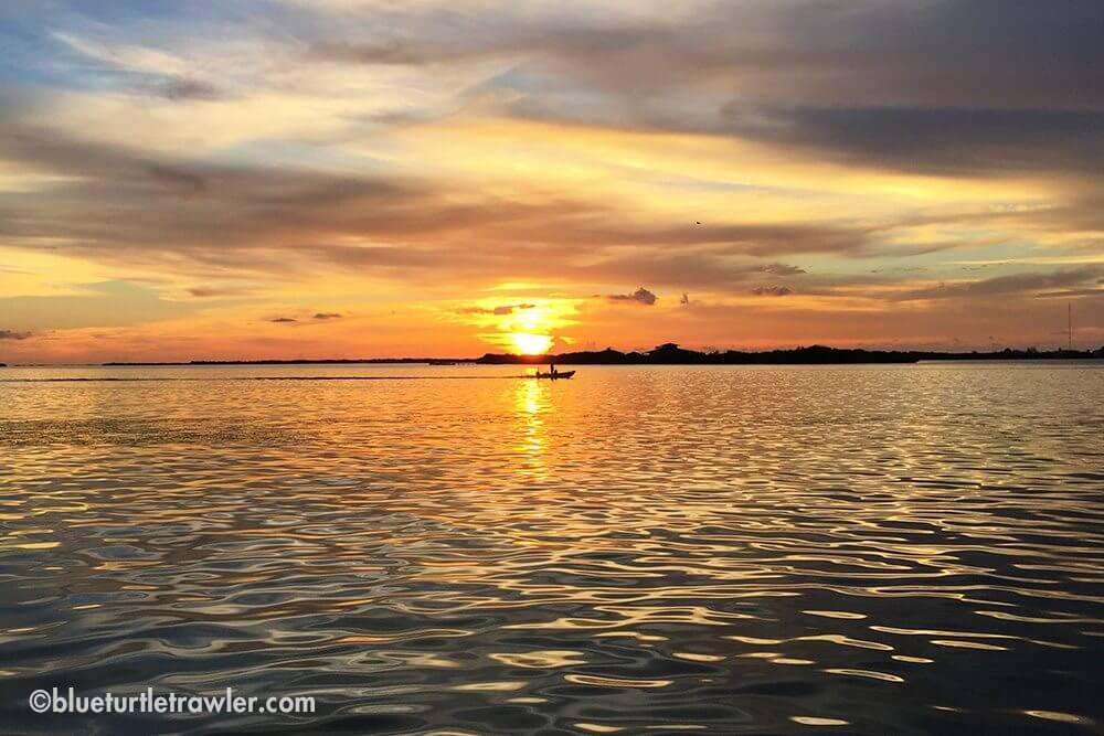 Beautiful Newfound Harbor sunset