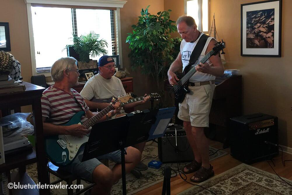 My Dad's (center) band practice