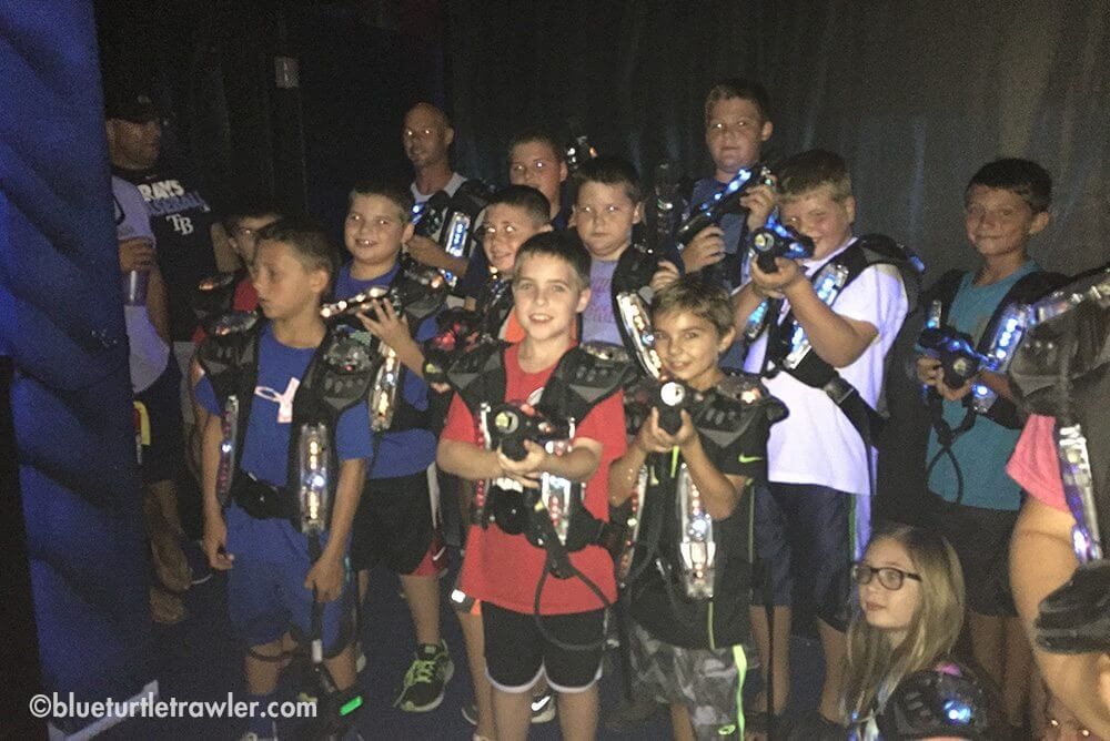 My nephew Ryan's b-day party and laser tag