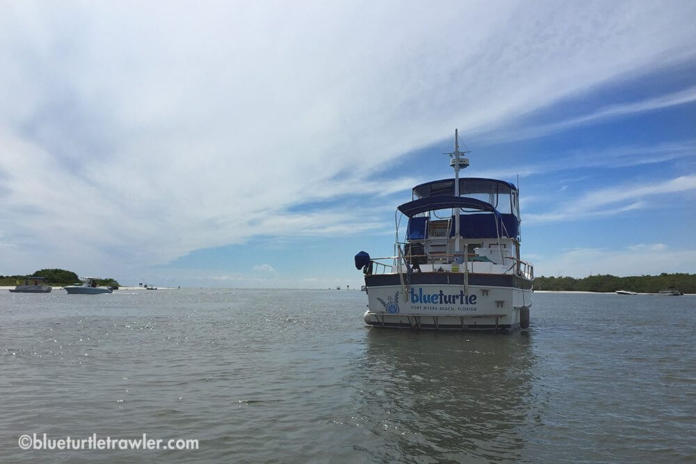 Blue Turtle anchored at New Pass