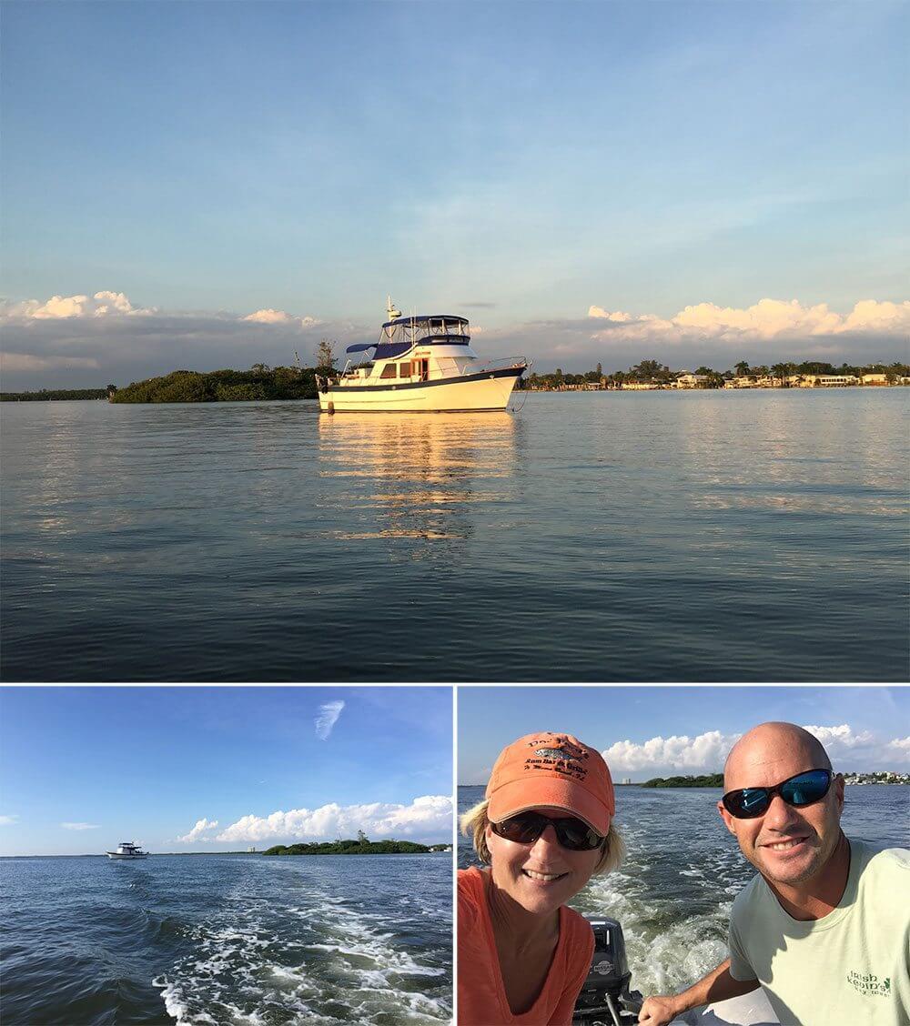 We anchored Blue Turtle near the Matanzas Bridge Halloween weekend