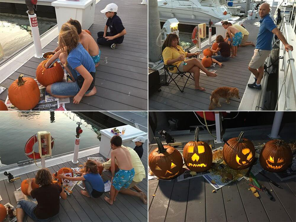 Carving up some pumpkins for Halloween