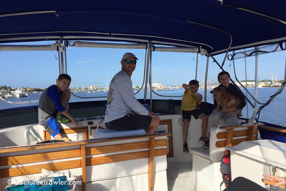 The boys on the bridge en route